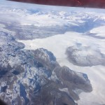 Udsigt på vej til Nuuk langs kysten